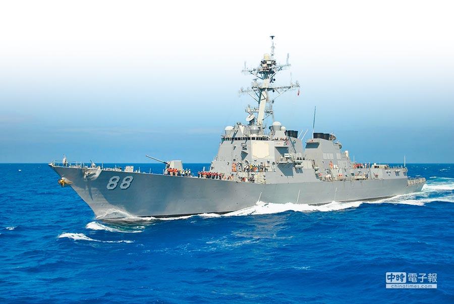 美國海軍兩艘飛彈驅逐艦6日再闖南海海域,圖為「普雷布爾」號。(摘自美國海軍官網)