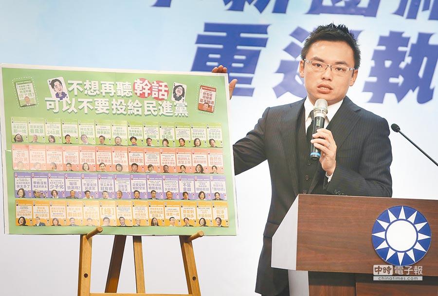 國民黨發言人洪孟楷。(本報資料照片)