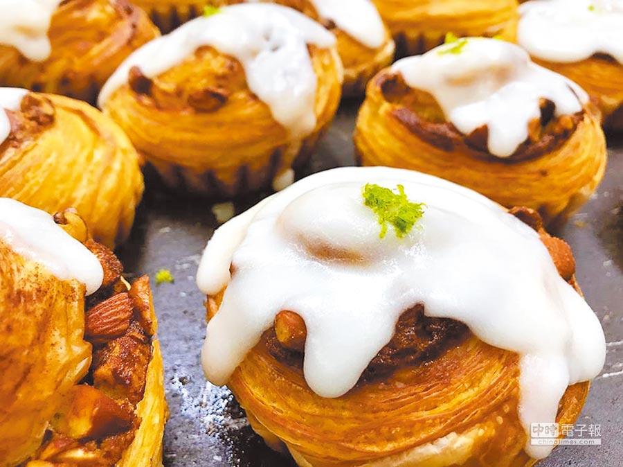 2018世界麵包大賽冠軍王鵬傑,高雄莎士比亞烘焙坊熱銷系列「檸檬肉桂捲」。(取自莎士比亞烘焙坊官網)