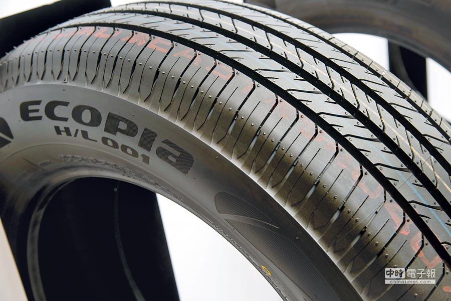 普利司通ECOPIA H/L001運動休旅車專用胎。(普利司通提供)