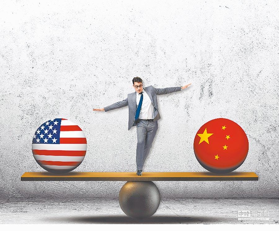 美對抗大陸各種組合拳,人權、南海問題都還可控,台灣牌最難控制。(設計畫面)