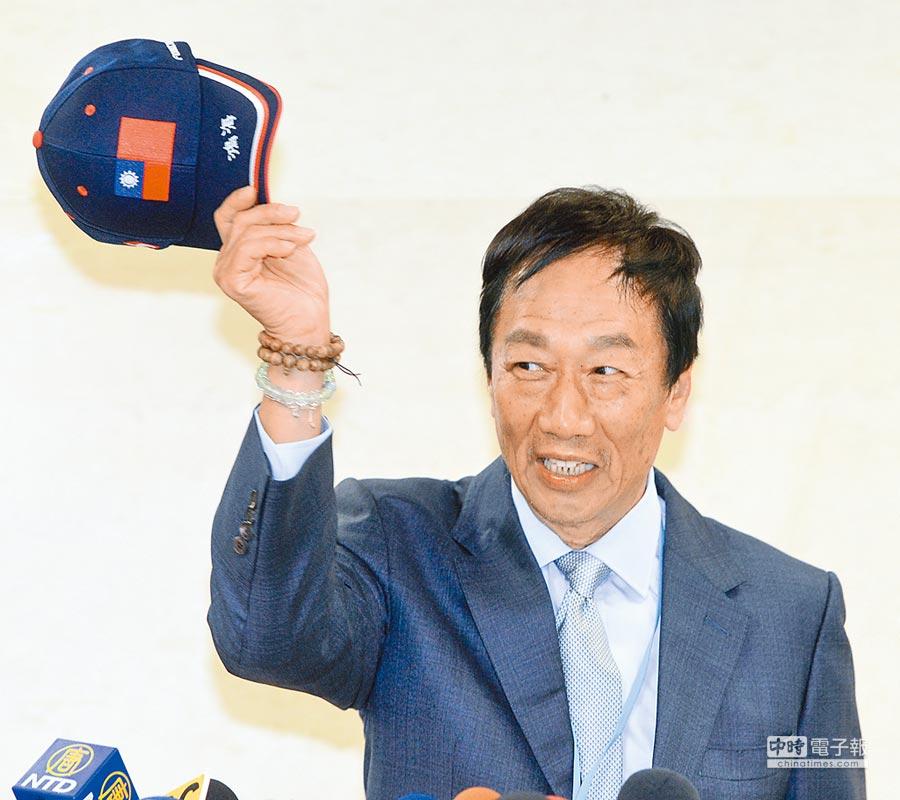 鴻海董事長郭台銘6日批評陸委會主委當打手不適任。(本報系資料照片)