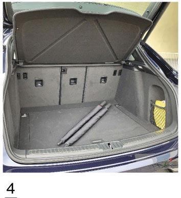 4.行李廂平整化設計,置物容量為488L。(陳大任攝)
