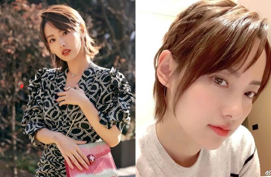 張嘉倪因演出《延禧攻略》爆紅,有「最美妃子」稱號。(圖/翻攝自微博)