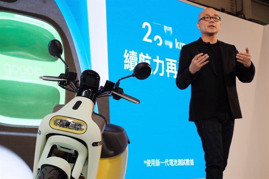 Gogoro3上市,車殼採食用級塑料,最低4萬有找。(郭吉銓攝)
