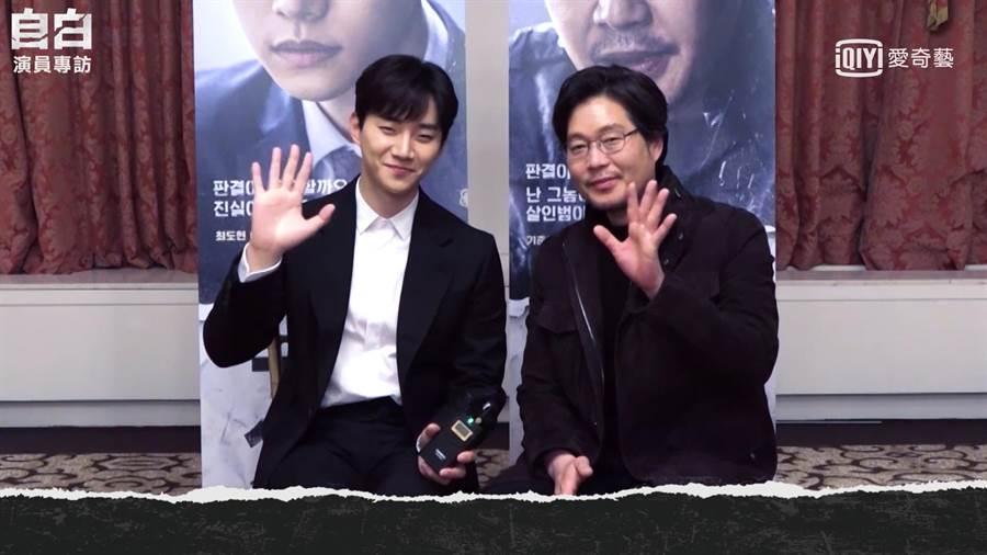 李俊昊(左)很感謝大前輩劉在明的照顧。愛奇藝台灣站提供