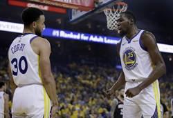 NBA》杜蘭特傷退 柯瑞接管幫勇士聽牌