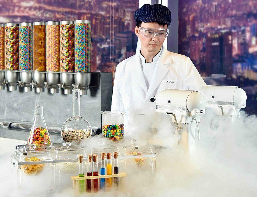 50樓Cafe-仙人掌液態氮冰淇淋。(Mega 50提供)