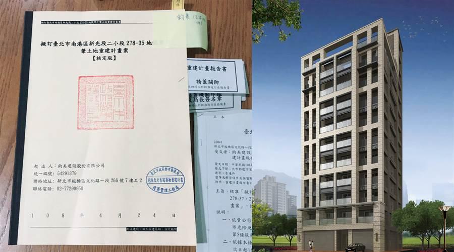 鈞美建設位於南港區新光段危老案,已順利取得核准,居民將迎接嶄新的家園。