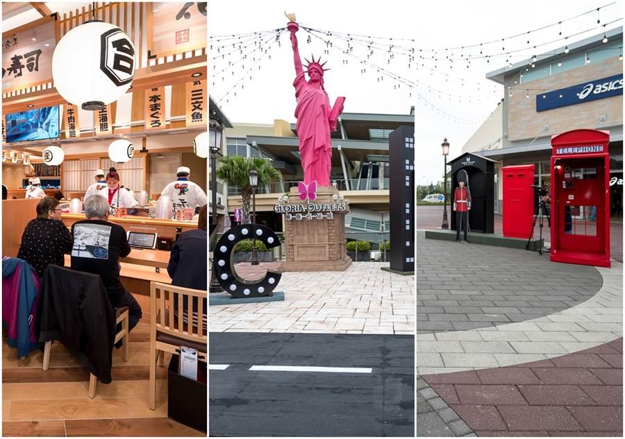 GLORIA OUTLETS華泰名品城 全區開幕公開285個品牌,獨家進駐台灣outlet品牌多達60幾家。(圖/張家齊攝影)