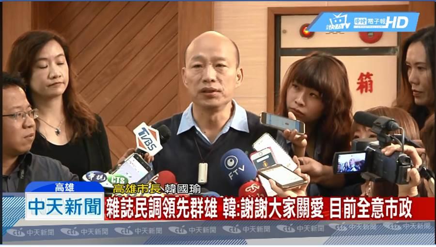 高雄市長韓國瑜。(圖片中時電子報臉書)