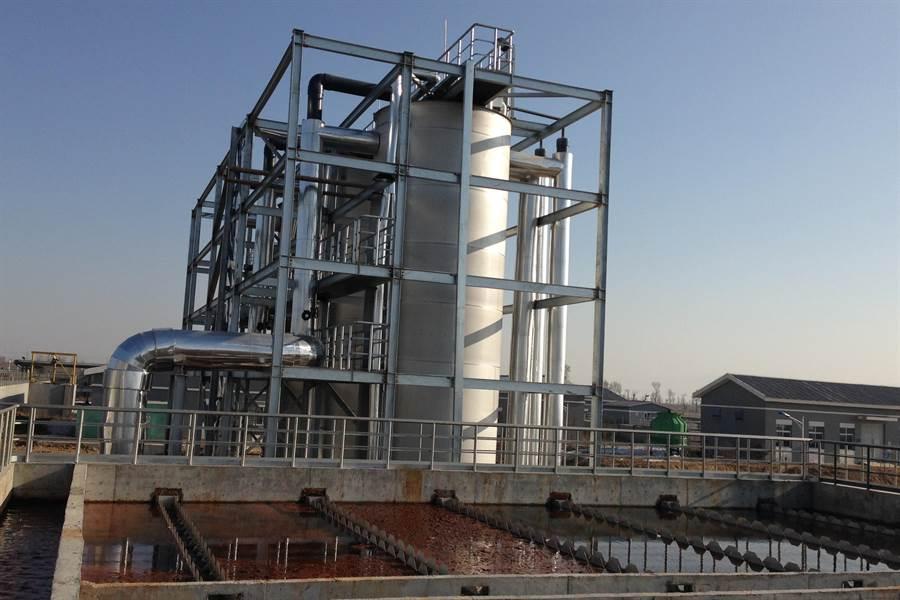 水資源公司可處理高濃度有機廢水的系統。(羅浚濱翻攝)