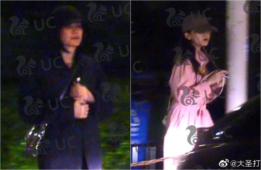 王菲、李嫣被拍夜晚出遊。(圖/翻攝自大聖打娛微博)