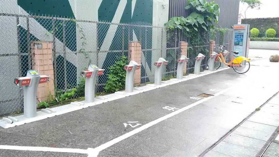 新北市公共自行車(YouBike)將於5月10日啟用中和區「環河西路三段(日安社區)」站。(葉書宏翻攝)