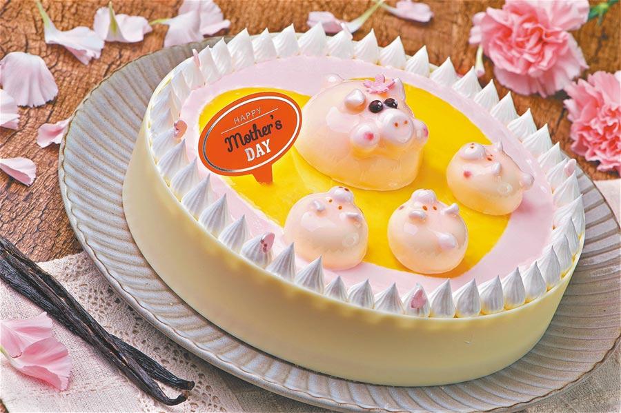 普諾麵包坊推出的母親節蛋糕以香草與椰子帶出獨特南洋味。(神旺大飯店提供)