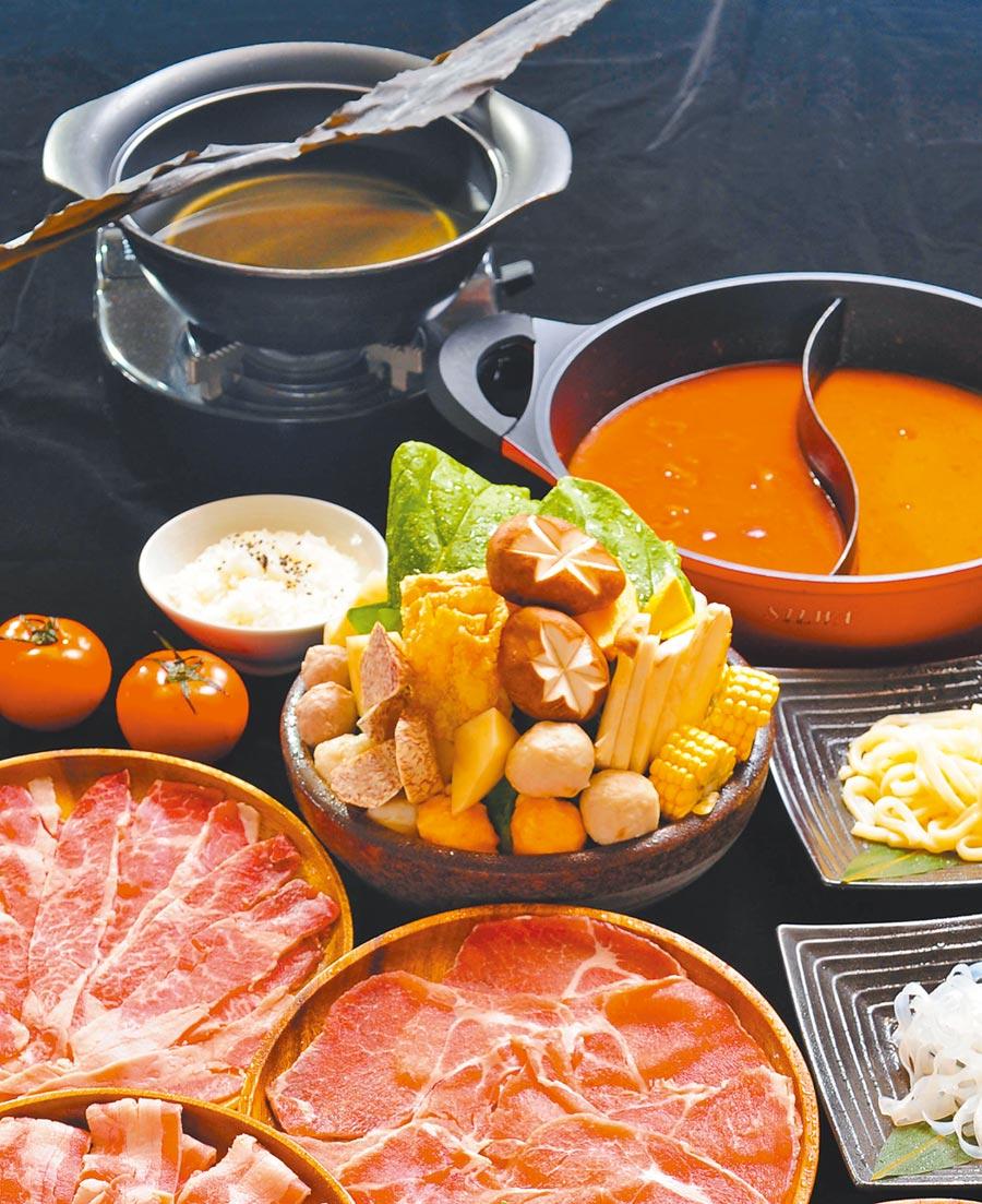澄江鍋物雖是吃到飽形態,但湯底都是用心熬製,相當可口。(神旺大飯店提供)