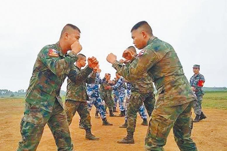 岸港訓練交流-泰拳訓練。