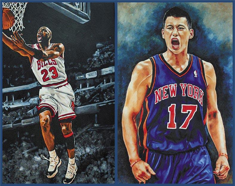 查理運動酒吧邀請Roy Cheng  展出NBA球星手繪油畫