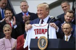 MLB》白宮鬧笑話 網站寫錯紅襪隊名
