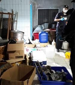 影》工寮暗藏制毒廠 警破獲可供38萬人施用量