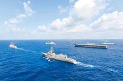 美日菲印海軍 首度聯航南海