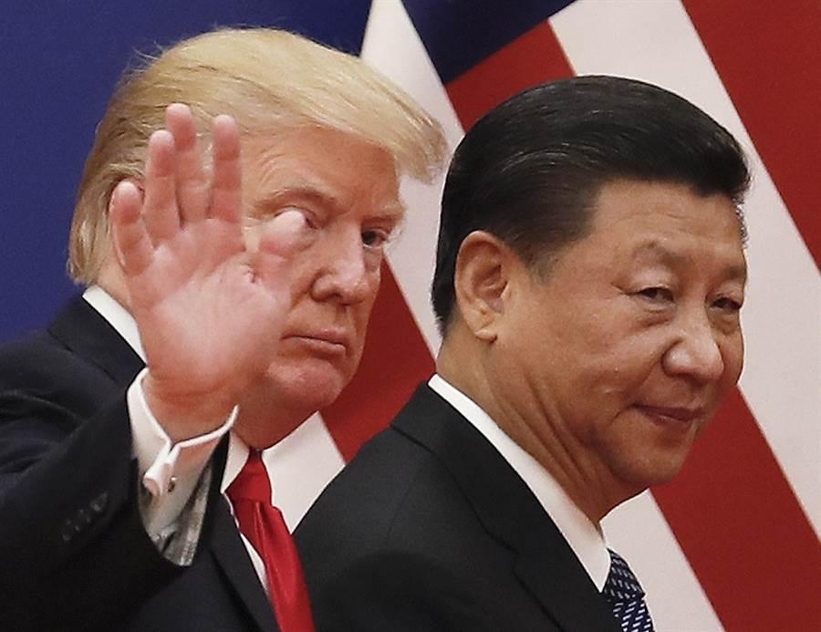 中國大陸國家主席習近平2017年11月9日在北京會晤美國總統川普的資料照。(美聯社)