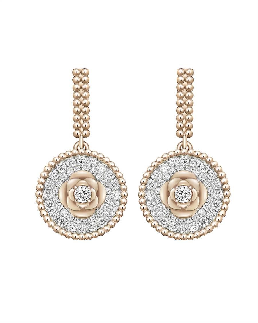 Peonia Diamond Flair 18K玫瑰金鑽石耳環,11萬9200元起。(鎮金店提供)