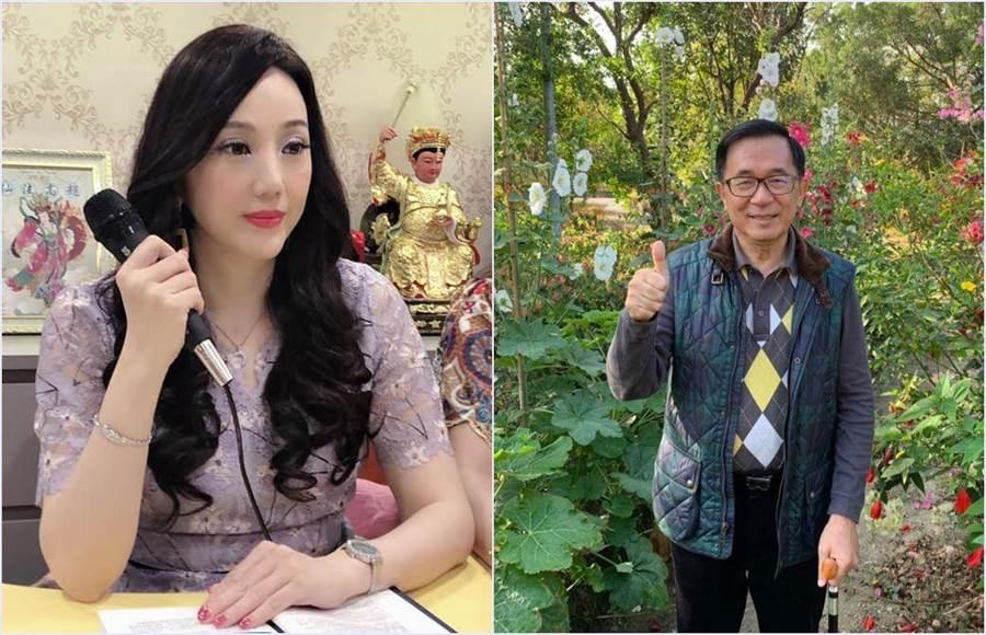命理老師沈嶸(左)通靈曾詐騙前總統陳水扁(右)的詐欺犯黃琪,發現他「惡業非常重」。(圖/翻攝自臉書)