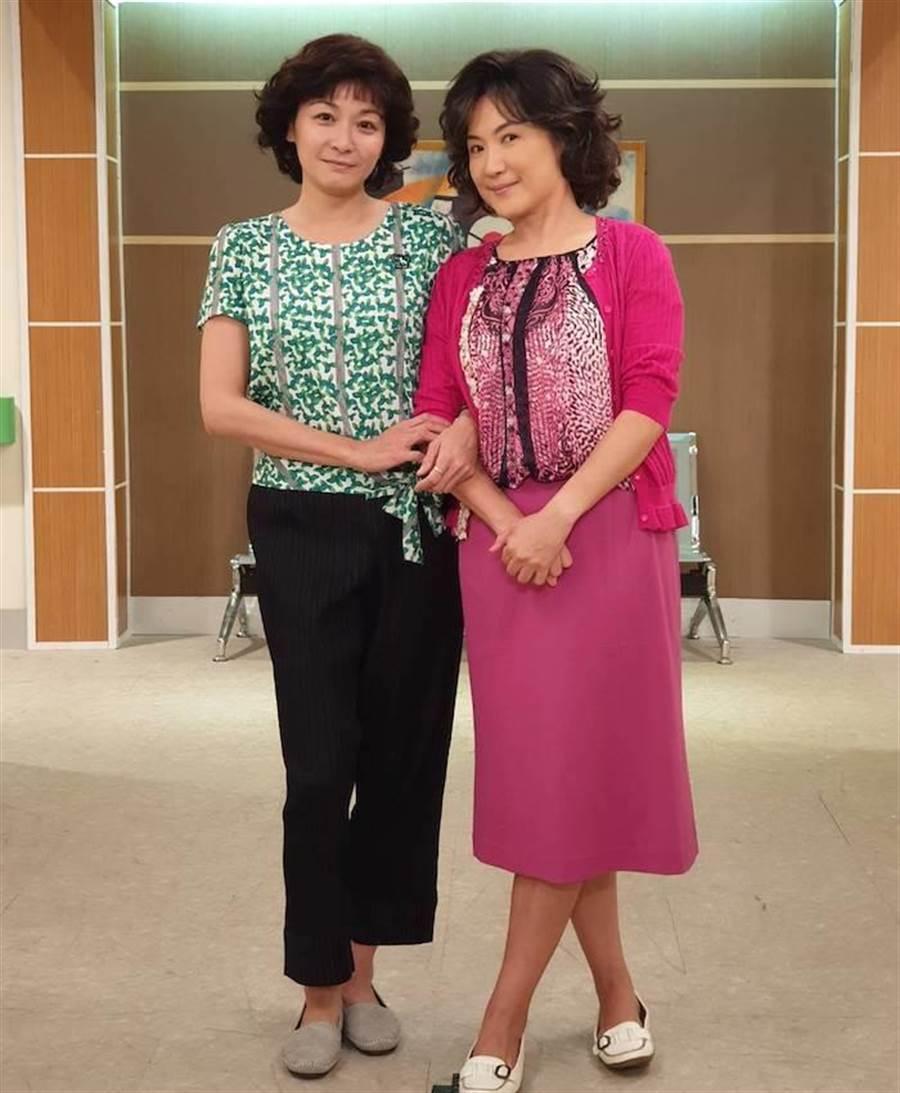 江祖平(左)和姚黛瑋。民視提供