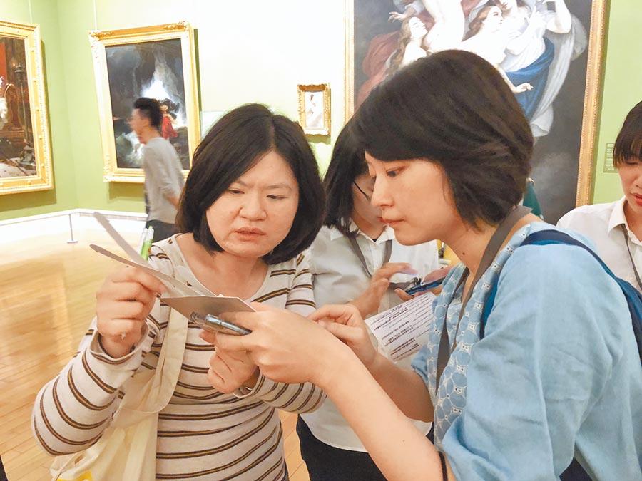 奇美博物館實境遊戲「穹頂計畫」,把藝術典藏品變成有趣的解謎線索,展場化身尋寶遊戲空間。(曹婷婷攝)