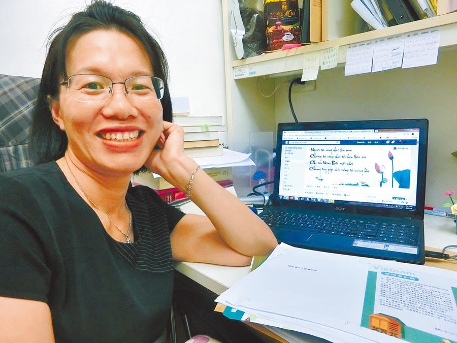 成功大學越南語教師阮氏青河呼籲,政府應該尊重新住民語言正確性。(曹婷婷攝)