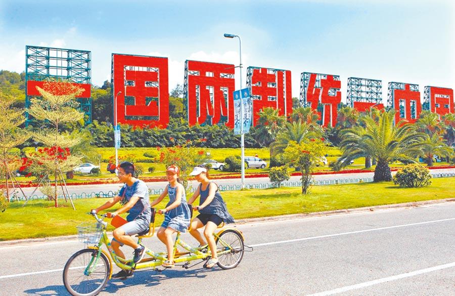 廈門「一國兩制統一中國」看板。(本報系資料照片)
