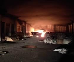 新營工業區半夜惡火 工廠燒剩3分之1