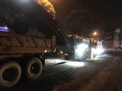 中市南屯區黎明路 啟動第二階段路平專案