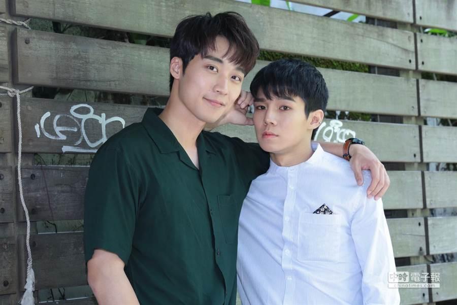 卞慶華(左)與陳廷軒(右)在《圈套》中愛的甜蜜,但卞慶華的角色其實很讓人值得期待。(圖/記者廖映翔攝)