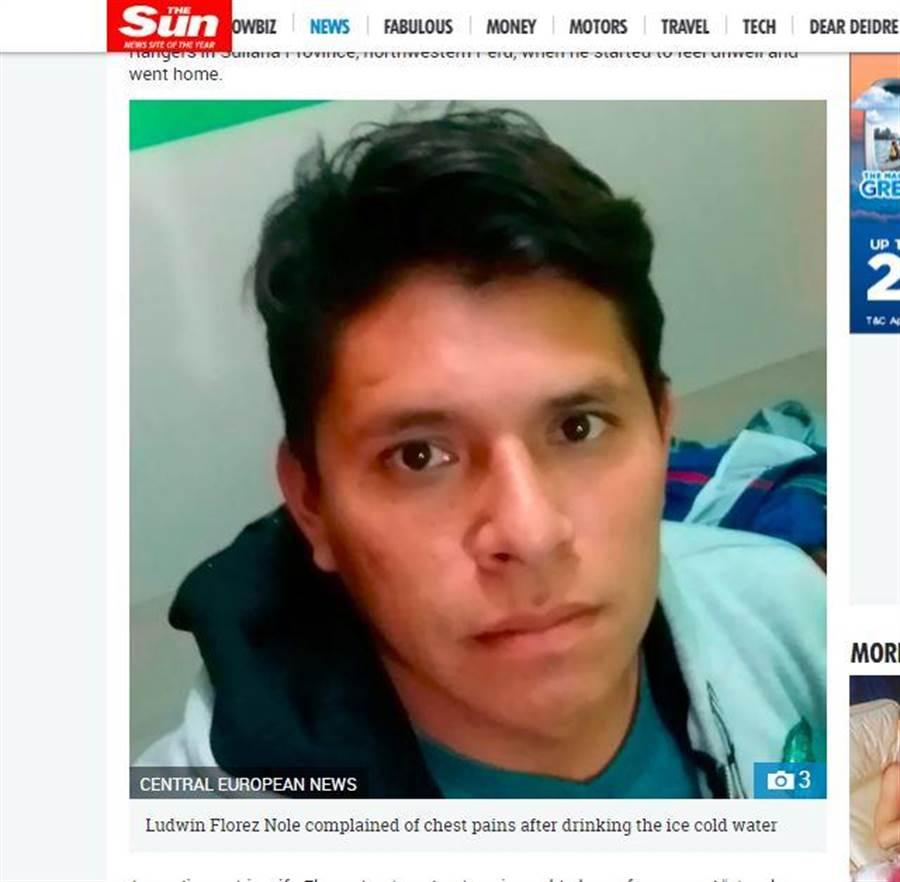 27歲的足球員諾爾,在比賽後喝冰水意外猝死。(翻攝太陽報)