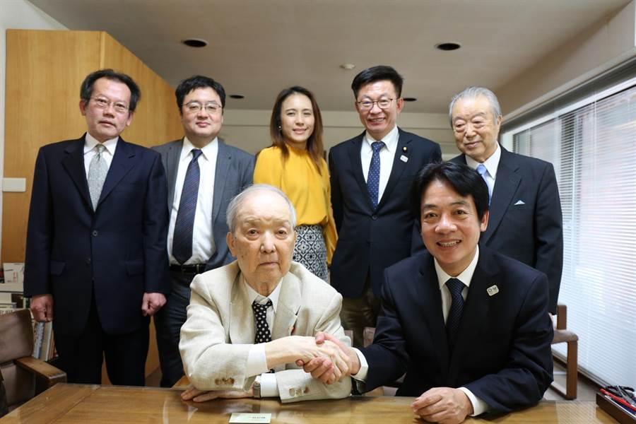 賴清德拜會日本前首相海部俊樹