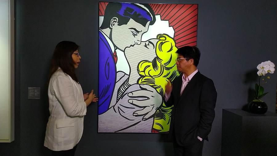李奇登斯坦的《吻III》估價為三千萬美金。(戴忠仁提供)