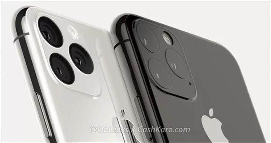 今年新iPhone背面渲染圖,其中兩款採3鏡頭設計。(翻攝自Cashkaro網站)