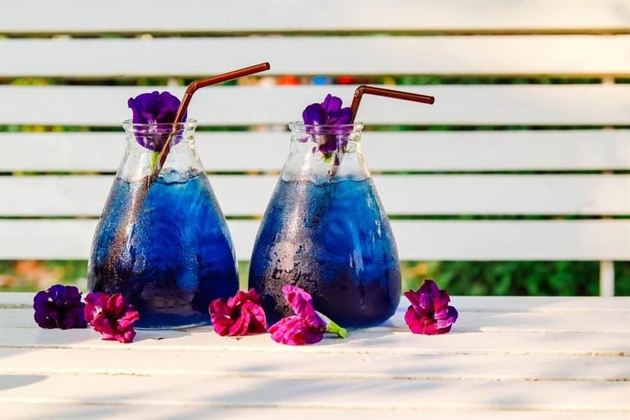 食藥署強調,蝶豆花僅能用於增添茶飲色澤,如果販售茶包則屬違法行為。(達志影像/shutterstock)