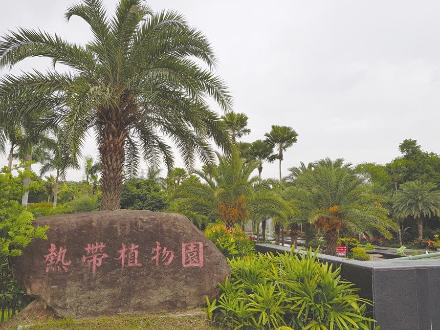 高雄大坪頂特定區的高雄市熱帶植物園,面積17.1公頃,是區內休憩好去處。圖/顏瑞田