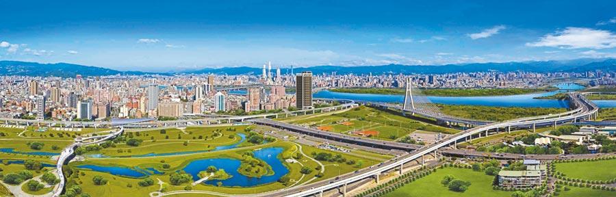 亞昕將在二重疏洪道重劃區,鄰近捷運三重站附近推出案量約25億、水岸宅「昕悅灣」。(甲山林提供)