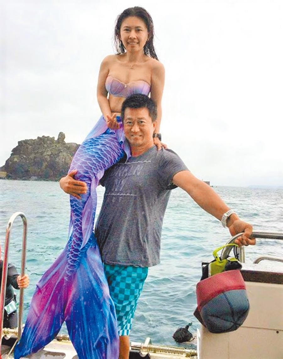 捕獲野生美人魚,葉生弘提醒嘗試澎湖海底潛水可記得先練好身體再來喔!(葉生弘提供照片)