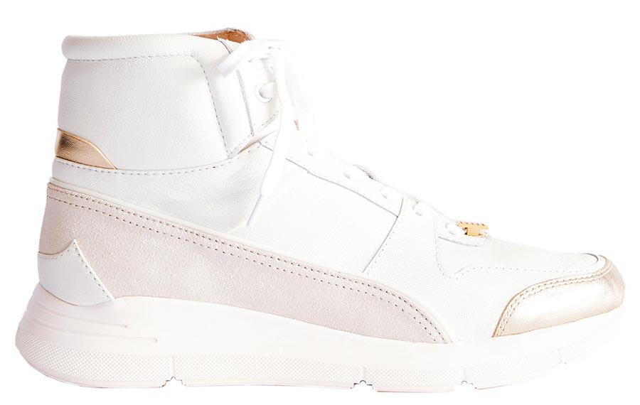 夏姿高筒拼接運動鞋,1萬7800元。(夏姿提供)