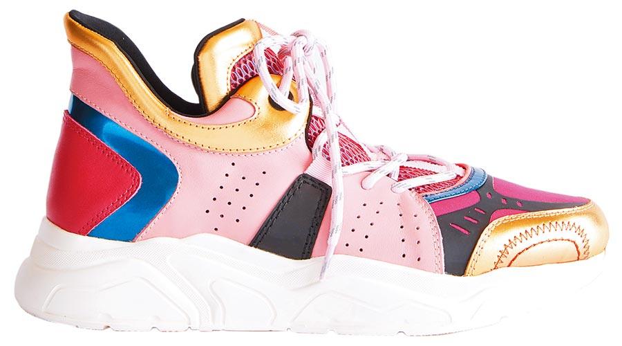 夏姿撞色拼接運動鞋(桃),1萬5800元。(夏姿提供)