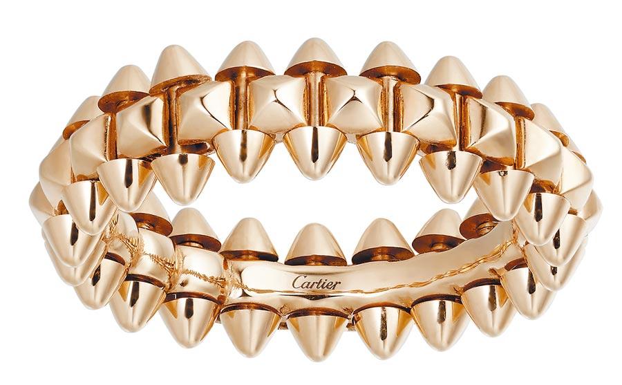 卡地亞Clash de Cartier系列玫瑰金戒指,6萬5000元起。(Cartier提供)