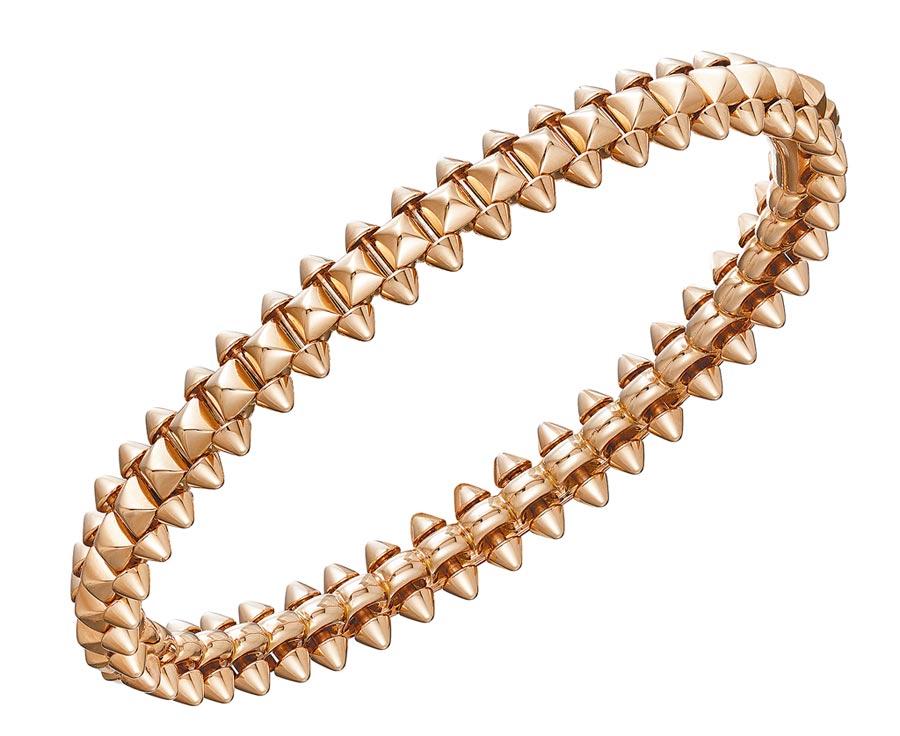 卡地亞Clash de Cartier系列玫瑰金手環,20萬3,000元起。(Cartier提供)