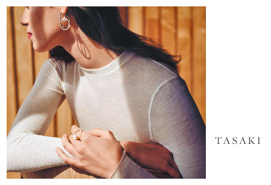 TASAKI母親節推出珍珠飾品,融入摩登時尚元素。(TASAKI提供)