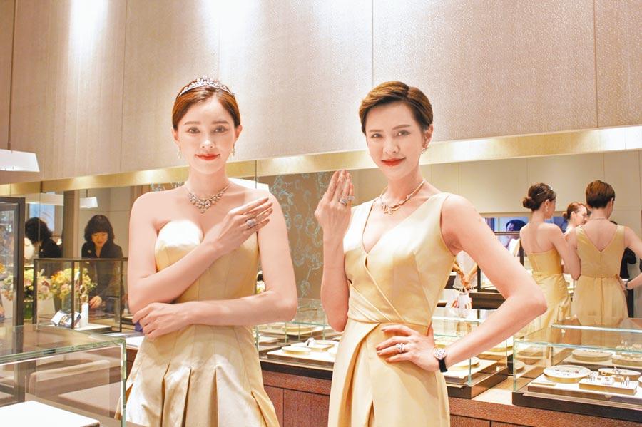 台中大遠百和CHAUMET聯合舉辦時尚秀,由模特兒展演6套總價達1億4000萬元的珠寶套件。(台中大遠百提供)