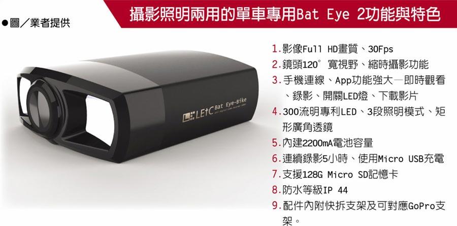 攝影照明兩用的單車專用Bat Eye 2功能與特色